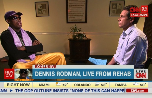 Dennis Rodman speaks to CNN's Chris Cuomo