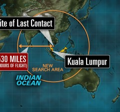 Missing Malaysian plane: Search area goes from 'chessboard to football field'
