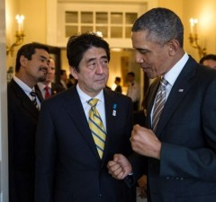 Pres.Obama meets with Japanese PM Abe