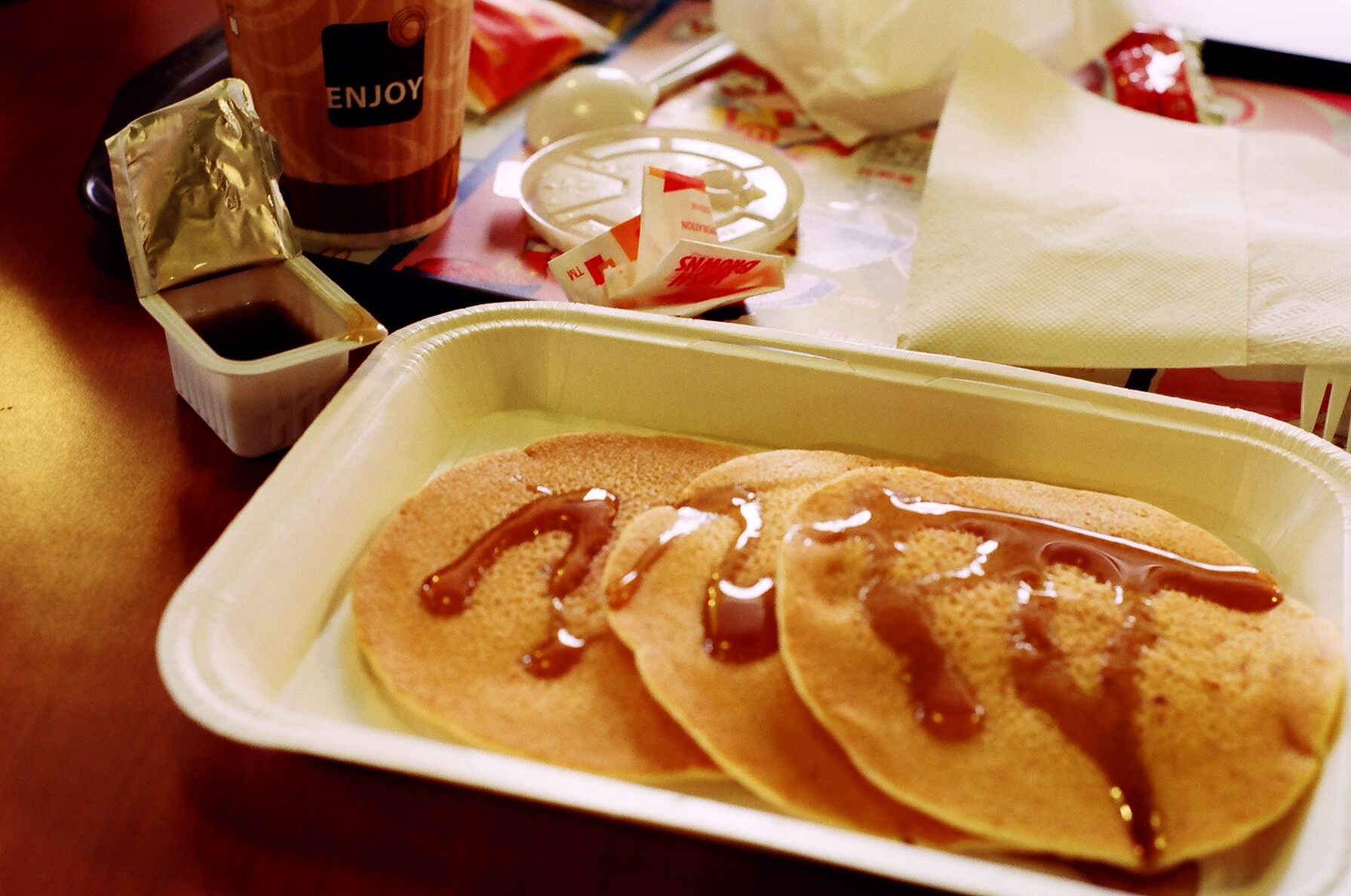 Photo courtesy of flickr user yanki01 Hot cakes are one of the options that will be featured on the McDonald's all-day breakfast menu.