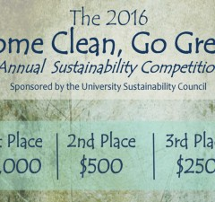 Infographic courtesy of Sustainability Council This year's Come Clean, Go Green proposal competition focuses upon responsible water use and will split $1,750 between the top three winners in a blind judging.