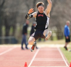 Photo by Steve Woltmann Dan Lentz was GLVC Athlete of the Week after winning the hepathlon at the Illiana Inventational.