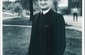 Photo provided by Brother Joseph Martin Br. French served as Lewis College's president for four years.