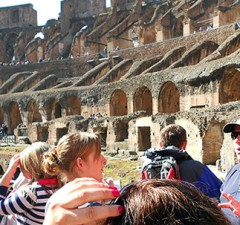 Photo courtesy of Lewis Study Abroad Students and staff tour Italy as part of the Lewis University Study Abroad program.
