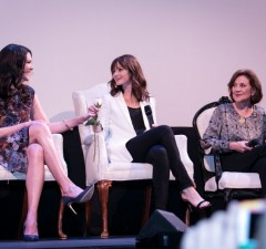 "Photo provided by http://sharpheels.com/2015/06/gilmore-girls-reunion-in-atx/ Series stars Lauren Graham, Alexis Bledel and Kelly Bishop discuss their days on ""Gilmore Girls"" in front of a sold-out crowd at the Paramount Theater ­­in Austin last June."