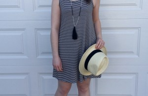 Photo courtesy of Laura Fox A soft cotton dress is comfortable and stylish when paired with fun summer accessories.