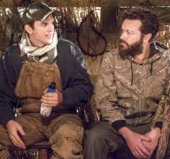 "Photo courtesy of @dannymasterson Kutcher and Masterson still have great chemistry in ""The Ranch."""