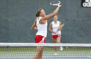 Photo by Steve Woltmann Dora Andrejszki proved too tough for most GLVC opponents.