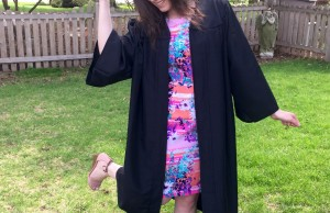 Photo courtesy of Laura Fox Just because you are wearing a cap and gown doesn't mean your gradutaion look can't be flawless. Wear a fun dress underneath to highlight your own personal style.